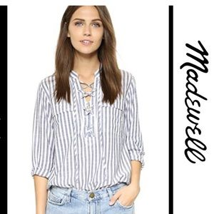 Madewell NEW Terrace Stripe Shirt Top Blouse Small